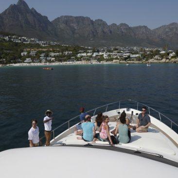 motor yacht sherilyn fore deck